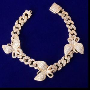 "Jewelry - 7"" x 10mm Gold Butterfly Bracelet"
